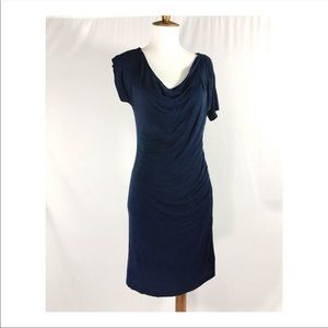 anthro velvet brand jersey asymmetrical dress